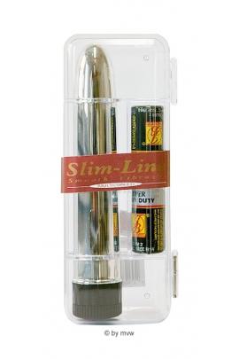 Slim Line Vibrator stříbrný