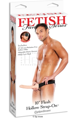 "FF 10"" Flesh Hollow Strap-On"