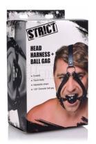 Strict Head Harness + Ball Gag