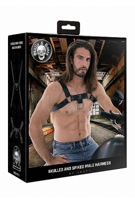 Ouch! Male Harness w skull&spikes