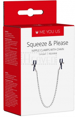 Squeeze & Please Nipple Clamps with Chain